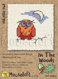 Mouseloft Old Ollie Owl In The Woods cross stitch kit